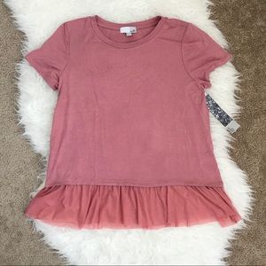 NWT 14th & Union Pink Desert Blouse